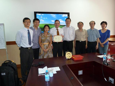 Prof. Kasabov, Dr Pang and C.Hawly visited the Xinjiang University as part of a NZ delegation to West China